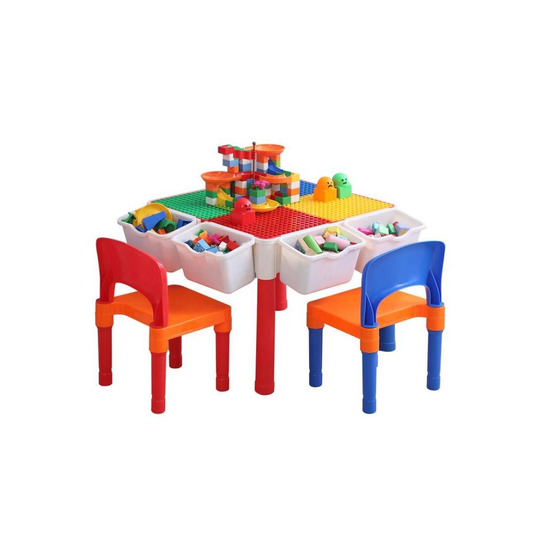 QARYYQ 子供用教育パズルブロック 組み立てブロック 学習テーブル クリエイティブ 多機能 組み立てテーブルゲーム テーブルトイ   B07L9QCCXC