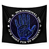 Society6 Me & Paranormal You - James Roper Design - Palmistry (white Lettering) Wall Tapestry Large: 88'' x 104''