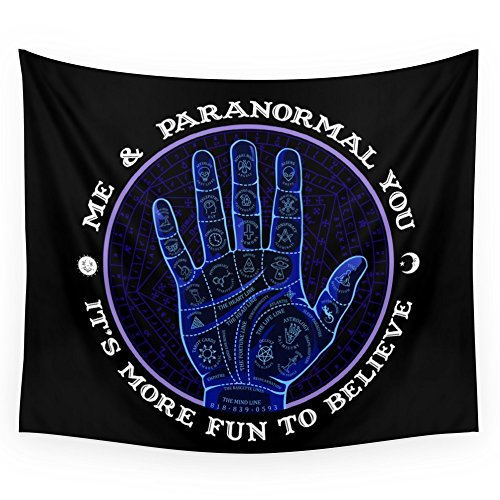 Society6 Me & Paranormal You - James Roper Design - Palmistry (white Lettering) Wall Tapestry Large: 88'' x 104'' by Society6