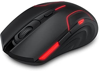 Pictek RGB Wireless Gaming Mouse with 6 Programmable Buttons