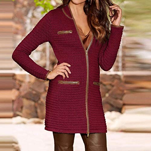 Con Inverno Rot Parka Risvolto Trench Giacca Lungo Moda Semplice Donna Slim Outwear Cerniera Antipioggia Cappotto Glamorous EzxUn7q