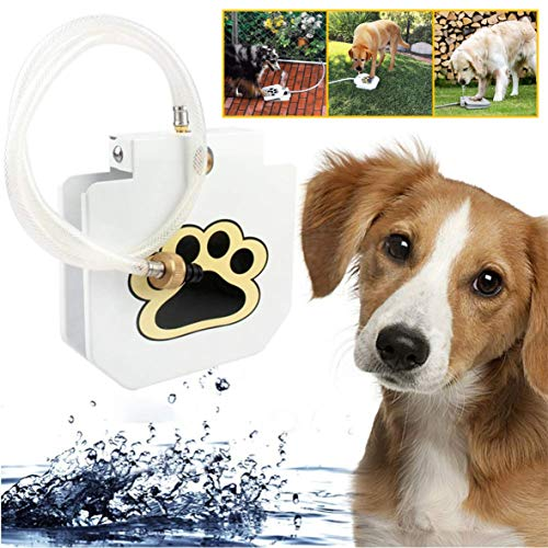 Deyace Dog Water Fountain, Dog Water Dispenser Outdoor Drinking Water Fountain Step-on, Interactive Paw Pedal Design Stimulates Pets and Keeps Them Cool, Durable Leak-Proof Dispenser ()