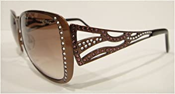 20b49ee60090 Caviar 1744 Sunglasses Brown (C16) Crystal Stones Authentic New