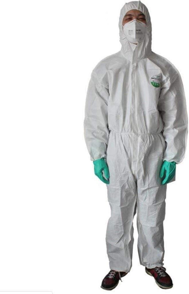 gz Dedicated Insgesamt Schutz Arbeitskleidung Einweg-Chemikalienschutzkleidung,M Sicherheit
