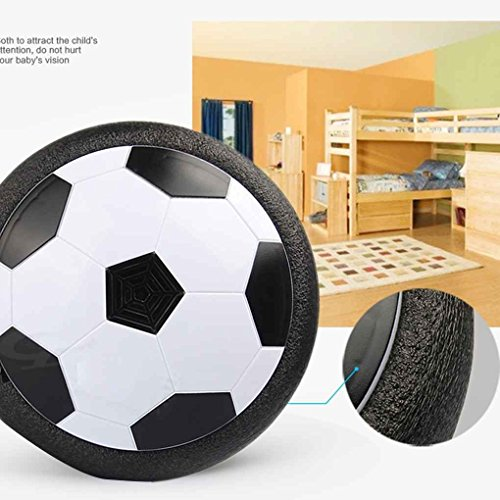 Time Foam (Hover Ball Soccer Ball Toy Hover Soccer with 2 Goals, Creative Kids Toy with LED Light, Excellent Time Killer for Boys/Girls, Soccer Disk with Foam Bumper for Indoor Games, An Inflatable Ball Included)