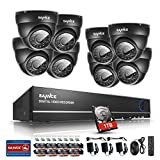 Sannce Security Camera System with 8CH 960H CCTV DVR and 8 900TVL Weatherproof Super Night Vision Indoor & Outdoor Surveillance Camera, (1TB Hard Drive Included,P2P & QR Code Scan Remote Access)