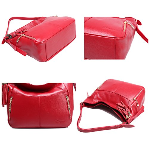 Bag for Geya Girls Bags Brown Shoulder Satchel Handbags Hobo Purses Wine Ladies Leather Handbags and Handbags Women Women pUvnqR