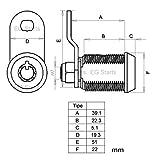EG Starts 5x Arcade Machine Cash Door Tool Box Tubular Cam Lock Cabinet Door Atom Lock With 5 Same Keys For Arcade Games Jamma Mame Parts