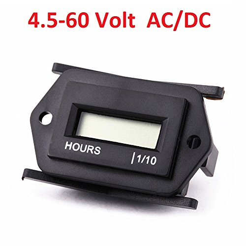 Searon 12V 24V 36V 48V Small Digital Hour Meter for Marine Boat Engine