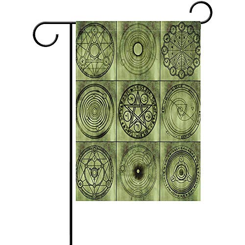 CIliik Garden Flag, Outdoor Yard Flags,Decorative House Yard Flag, Pattern Retro Abstract Decoration Polyester Valentine's Day Garden Flag 12 x 18 Inch Banner Double Sided Printing for Yard Decor ()