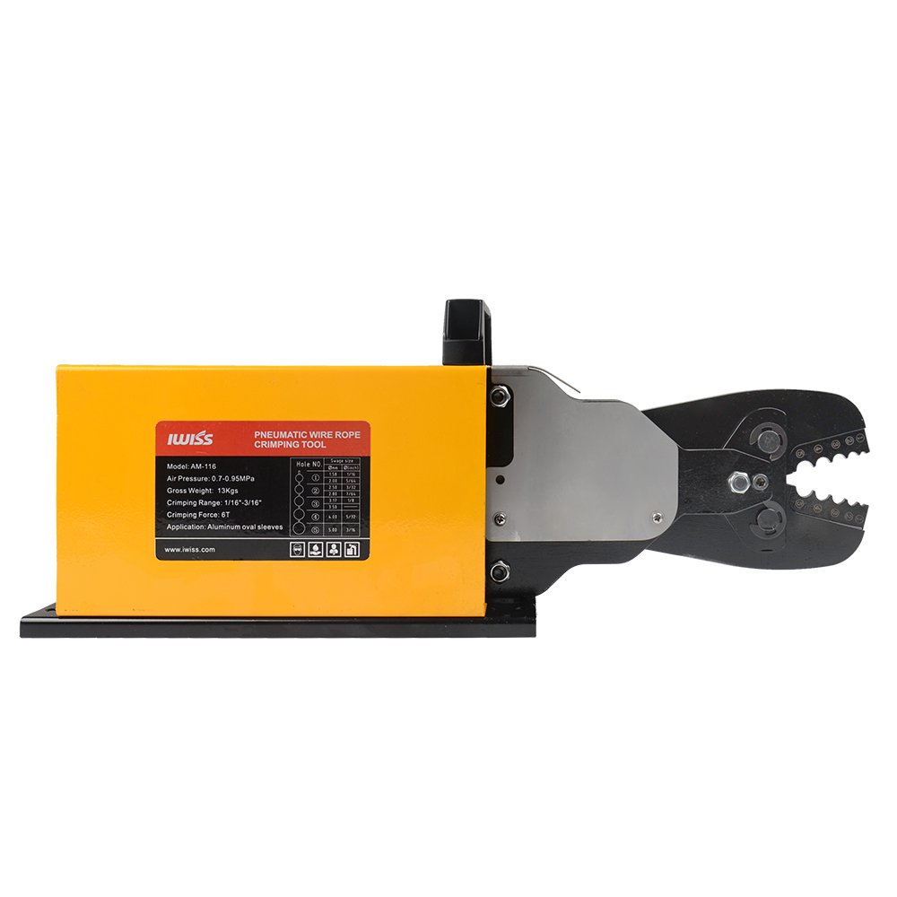 IWISS Wire Rope Crimping Tool Desk Type for Aluminum Sleeves,Stop Sleeves,Railing Fittings from 3//64 to 3//16-inch IWS-1608DT