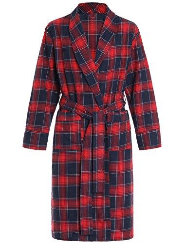 (Latuza Women's Cotton Flannel Robe XL Red Plaid)