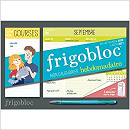 Mini Frigobloc hebdomadaire 2021   Calendrier d'orga. familiale