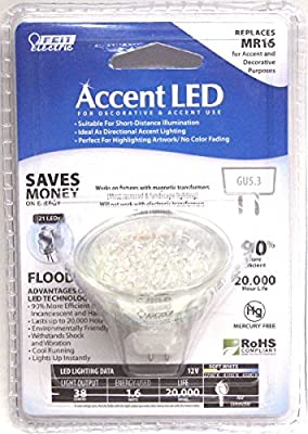 Accent LED MR16 EXN 1.6W 12V AC GU5.3 Bi-Pin, 38 Lumens