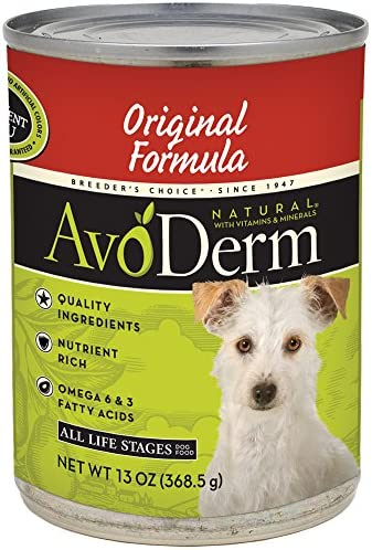 AvoDerm Natural All Life Stages Dry Wet Dog Food, For Skin Coat