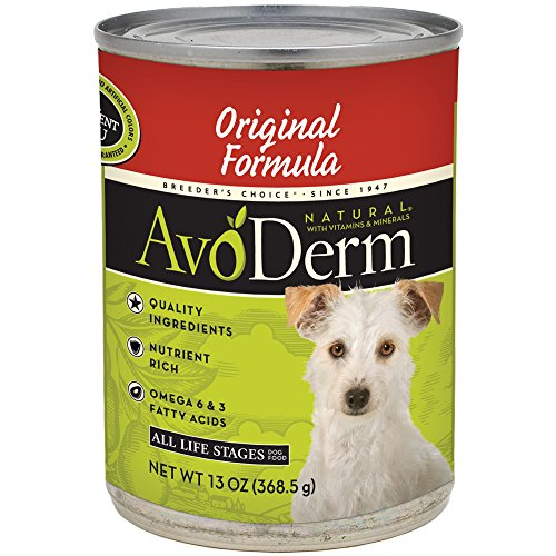 Avoderm Natural Original Formula Canned Wet Dog Food, 13-Ounce Cans, Case Of 12