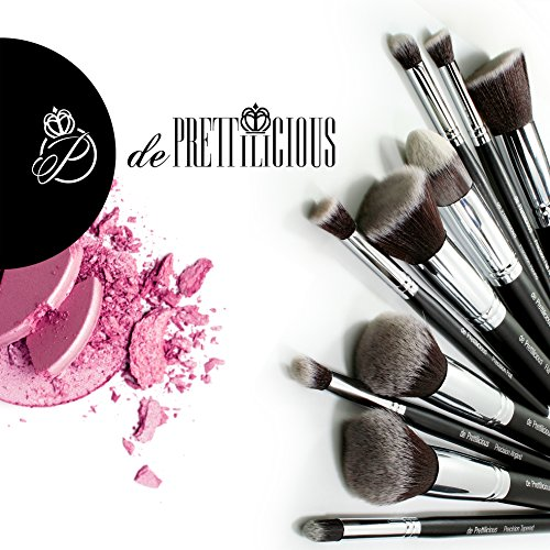 ON SALES! PERFECT 10 KABUKI MAKEUP BRUSH 10PCS SET with BRUSH CYLINDER and SOFT BRUSH POUCH (12 Slots) and BEAUTY...