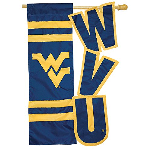 Sculpted House Flag--West Virginia University