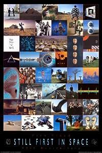 Pink Floyd - 40th Póster con diseño de con texto en inglés, 24 x 36 Póster con diseño de, 24 x 36