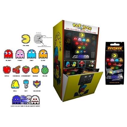 738485728 Amazon.com: Pac-Man 8-Bit Enamel Pin Collection Gravity Feed Case: Toys &  Games