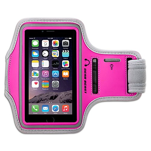 - Gear Beast Sports Armband Case for iPhone 8 Plus 7 Plus 6 Plus 6s Plus Galaxy S7 Edge Note 5. Cell Phone Holder for Running Jogging Workout Fitness Exercise. Waterproof Band with Key Pocket