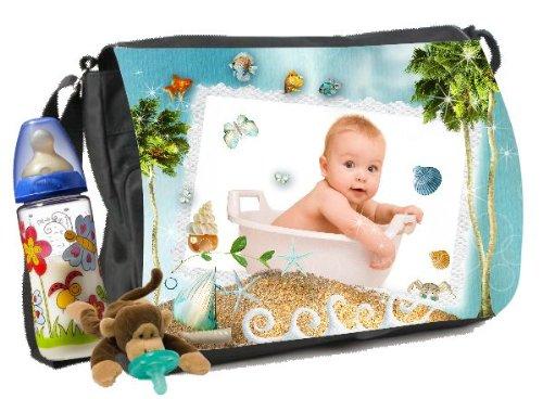 Sac à langer avec vos propres photos et nom Sac à langer bébé Motif sous la mer