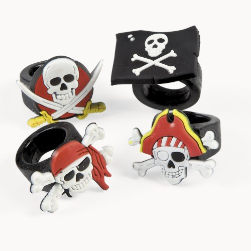Fun Express Rubber Pirate Rings