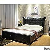 Eastern King Bed Size Greatime  Eastern Upholstered Bed, King Size, Black