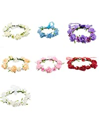 Womens's Girl Flower Fairy Bohemian Braid Wedding Beach Tiara Crown Hair Headband