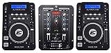 (2) EPSILON CDUSB-7000 Tabletop DJ Scratch CD/MP3/USB Digital Turntables+Mixer