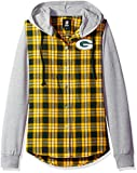 NFL Green Bay Packers Womens NFL Women's Lightweight Flannel Hooded Jacket, Small