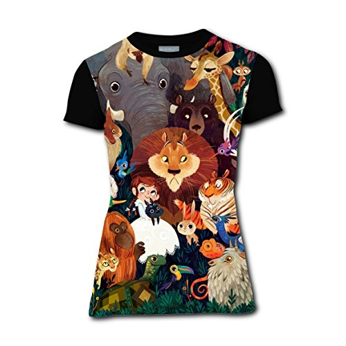 Costume Ideas For Jungle Couples (RAWWALKERONE Jungle Animals T-shirts Tee T Shirt Costume for Women)