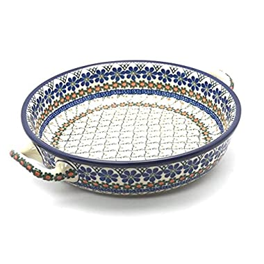 Polish Pottery Baker - Round with Handles - Large - Primrose