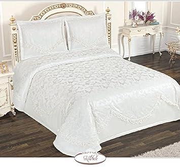 Betten Machen Dekorativ xl luxus bettueberwurf tagesdecke fuer bett 270x270cm mit zwei