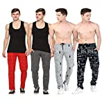 SHAUN Men's Cotton Trackpants (Pack of 4)
