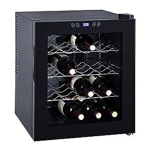 SMAD 16 Bottle Single Door Freestanding Wine Cooler Cellar Refrigerator Fridge Quiet Operation