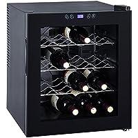 SMETA Counter Top Wine Cooler Refrigerator Cabinet Beverage Fridge,16 Bottles,Black,1.7 Cu Ft