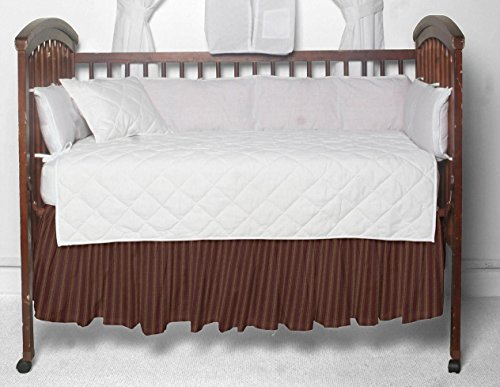 - Patch Magic Fabric Crib Dust Ruffle, Deep Red with Tan Stripes