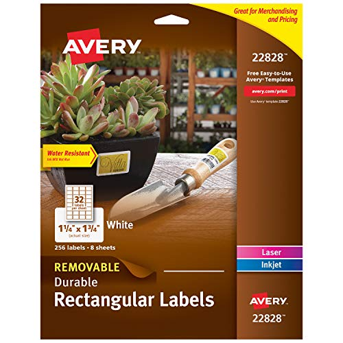 Removable Id Labels - Avery Removable Labels for Laser & Inkjet Printers, 1.25