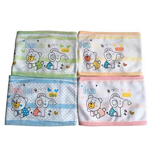 - Trycooling 4PCS Cotton Baby Infant Umbilical Cord Belly Band Cartoon Soft Newborn Navel Belt (Random Style)