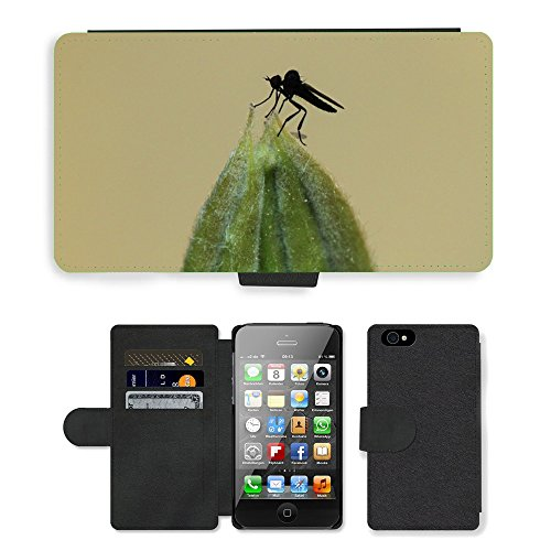 Just Phone Cases PU Leather Flip Custodia Protettiva Case Cover per // M00127497 Fly insectes animaux // Apple iPhone 4 4S 4G