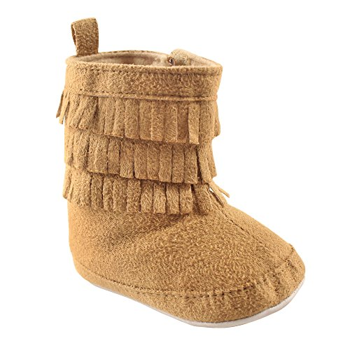 Cowgirl Baby Boots (Luvable Friends Girls' Fringe Bootie Boot, Tan, 0-6 Months M US Infant)