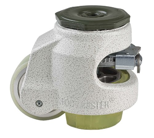 FOOTMASTER-GDR-80S-U-Urethane-Wheel-and-Pad-Ratcheting-Leveling-Caster-1100-lbs-Stem-Mounted-with-0472-Mounting-Hole-Diameter-Ivory