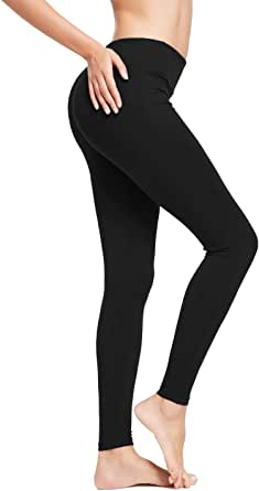 BALEAF Women's Yoga Capri Workout Running Leggings Inner Pocket Non See-Through Fabric