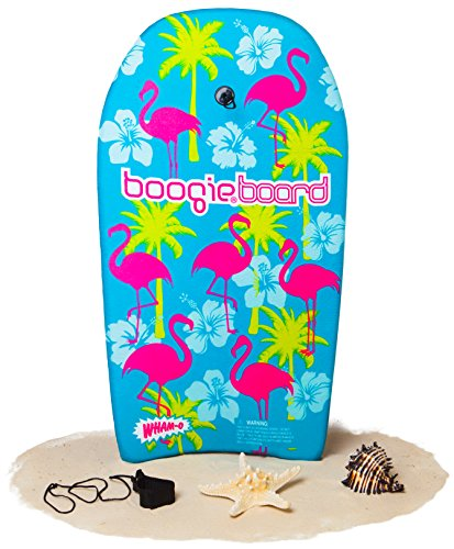 Boogie Board 33 Bodyboard - Durable Fiberclad Deck with Phuzion Core and Leash - Choose Your Graphics (Hawaiian Hipster, Aqua)