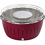 LotusGrill G-LI-435 - Barbecue a carbone senza fumo XL, colore viola