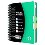 iScholar iQ Personal Poly Cover Double Wire Notebook, College Ruled, 7 X 5-Inch Sheet Size, 100 Sheets, Cover Color May Vary - 57502