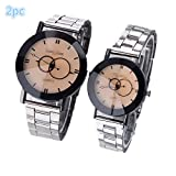 Hot Selling! Layhome Men Women Couple Wrist Watch Alloy Quartz Watch (AA)