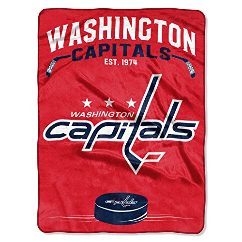 (The Northwest Company Officially Licensed NHL Washington Capitals Inspired Plush Raschel Throw Blanket, 60