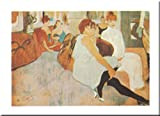 Salon in Rue des Moulins by Henri Toulouse-Lautrec 9.5x12 art print poster. Paper quality: heavy duty 120 pound art stock. Check store for other sizes available